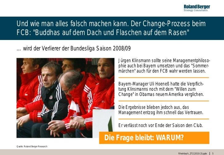 """Und wie man alles falsch machen kann. Der Change-Prozess beimFCB: """"Buddhas auf dem Dach und Flaschen auf dem Rasen""""… wird ..."""