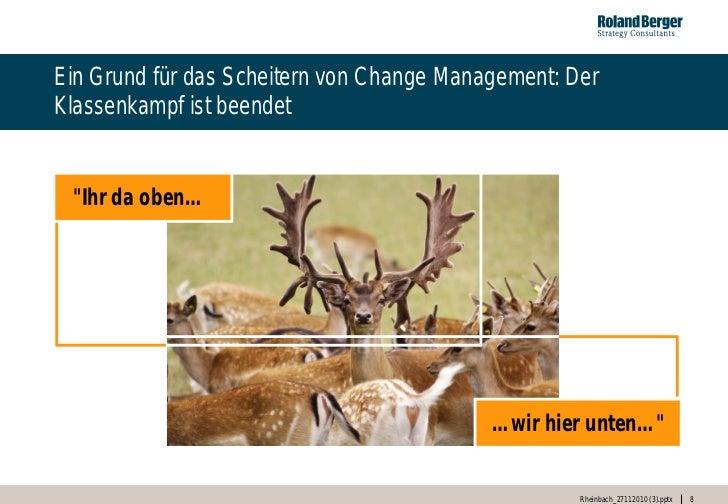 """Ein Grund für das Scheitern von Change Management: DerKlassenkampf ist beendet """"Ihr da oben…                              ..."""
