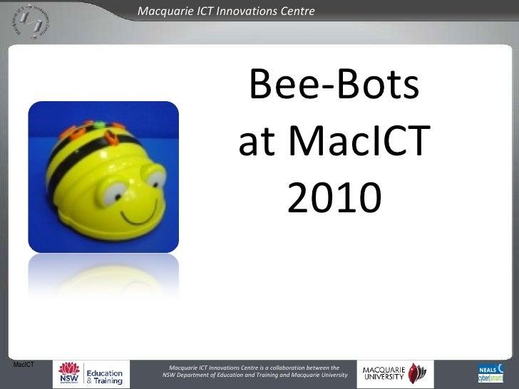 MacICT Bee-Bots at MacICT 2010