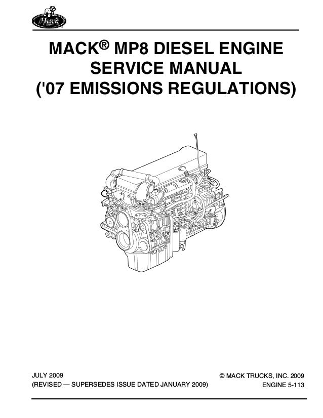 mack mp8 diesel engine service manual  slideshare