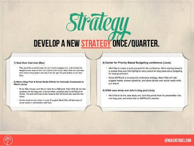 Strategy @Mackfogelson develop a new strategy once/quarter.