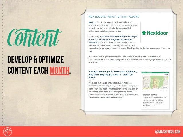 develop & optimize content each month. Content @Mackfogelson
