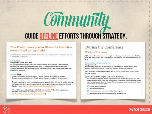 guide offline efforts through strategy. Community @Mackfogelson