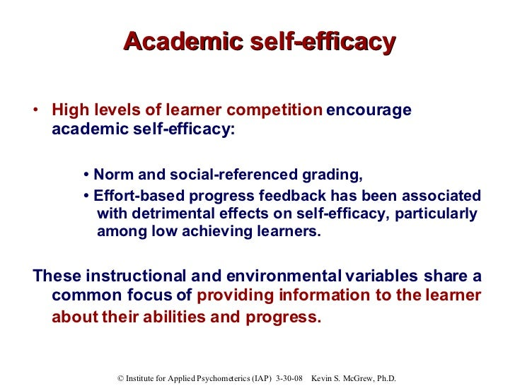 self efficacy among academically low and high achievers Self-efficacy of prospective teachers in significant differences in self-efficacy among high & low and attri-self-efficacy of prospective teachers in relation.