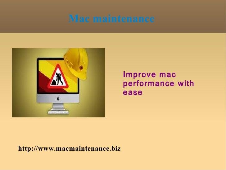 Mac maintenance                                Improve mac                                performance with                ...