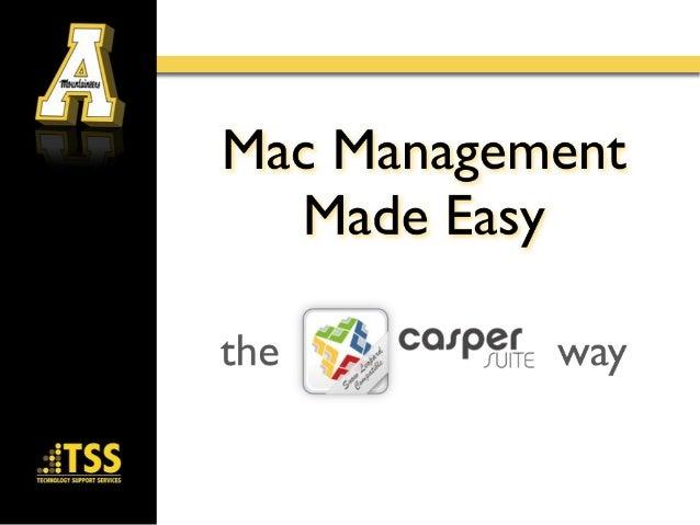 Mac management made easy
