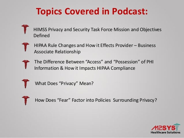 Health IT Data Security – An Overview of Privacy, Compliance, and Technology Options Slide 2