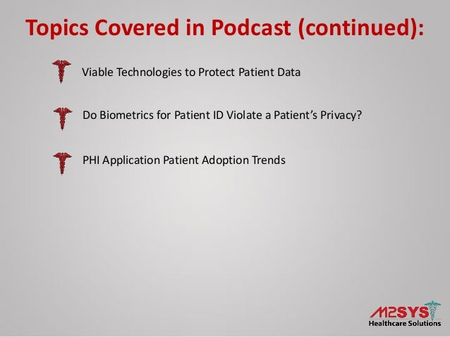 Health IT Data Security – An Overview of Privacy, Compliance, and Technology Options Slide 3