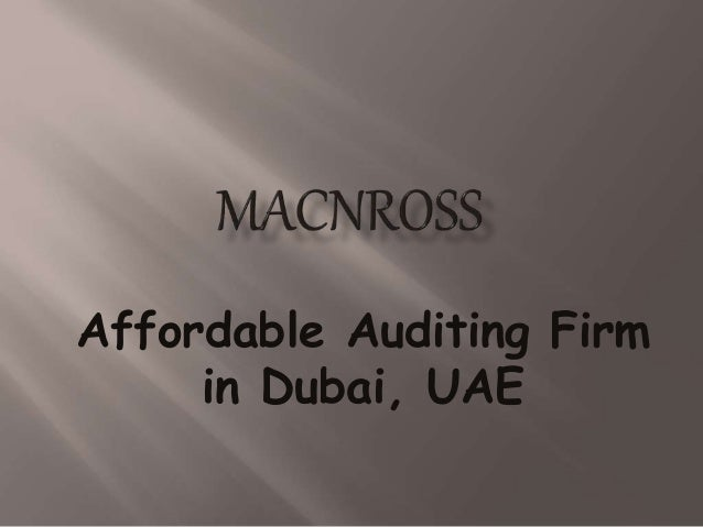 Affordable Auditing Firm in Dubai, UAE
