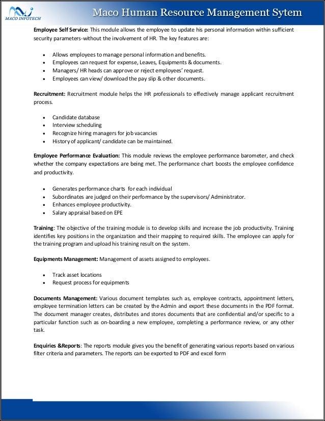human resource documents