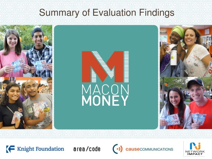 Summary of Evaluation Findings