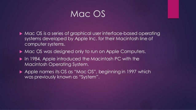 Mac OS(Operating System)