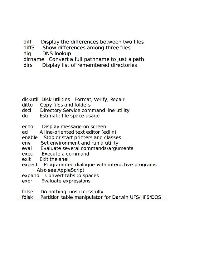Mac OSx command line (terminal)