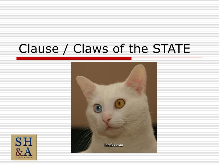 Clause / Claws of the STATE