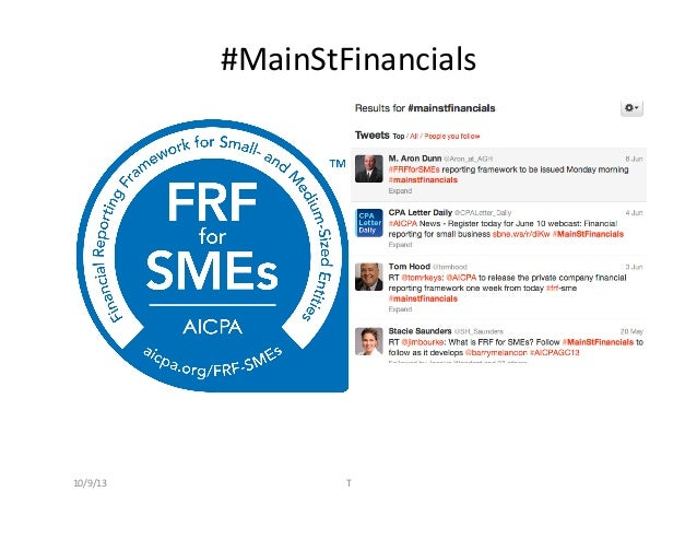 #MainStFinancials	    10/9/13	    T
