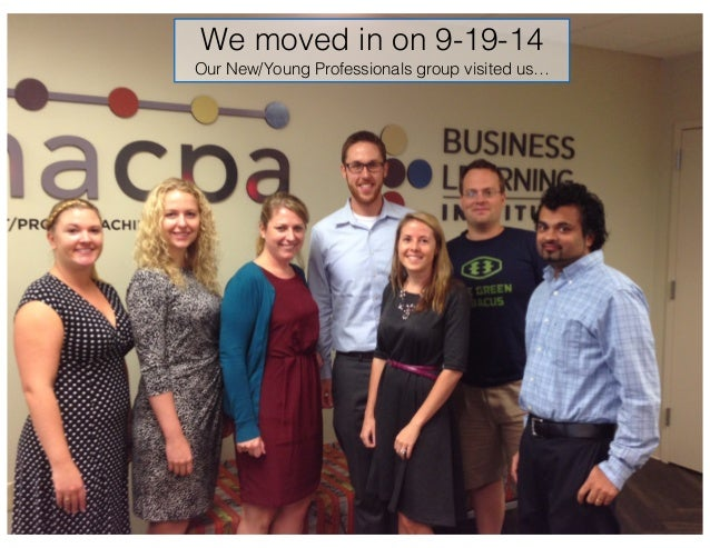 We moved in on 9-19-14 Our New/Young Professionals group visited us…