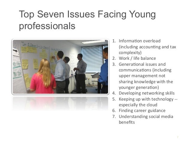 Top Seven Issues Facing Youngprofessionals                   1. InformaAon overload                        (including...