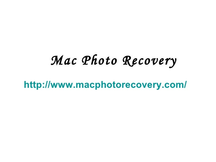 Mac Photo Recovery http://www.macphotorecovery.com/
