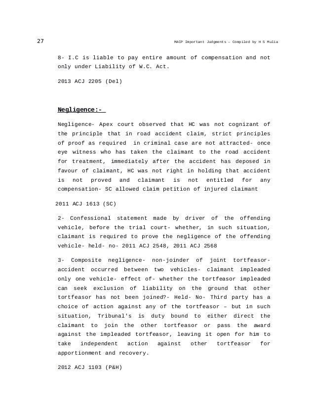 motor accident claim tribunal act pdf
