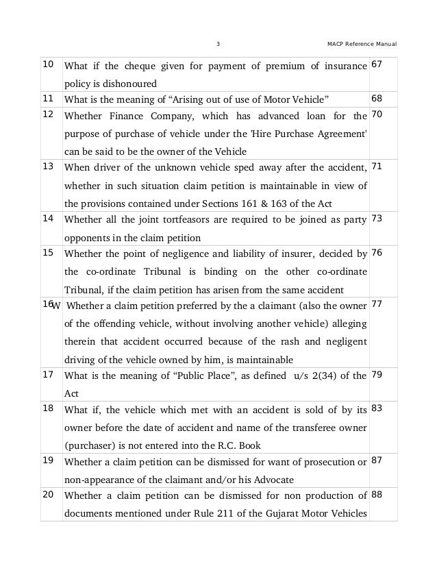 Motor Accident Claim Petitions MACP Reference Manual updated upto – Reference Manual Template
