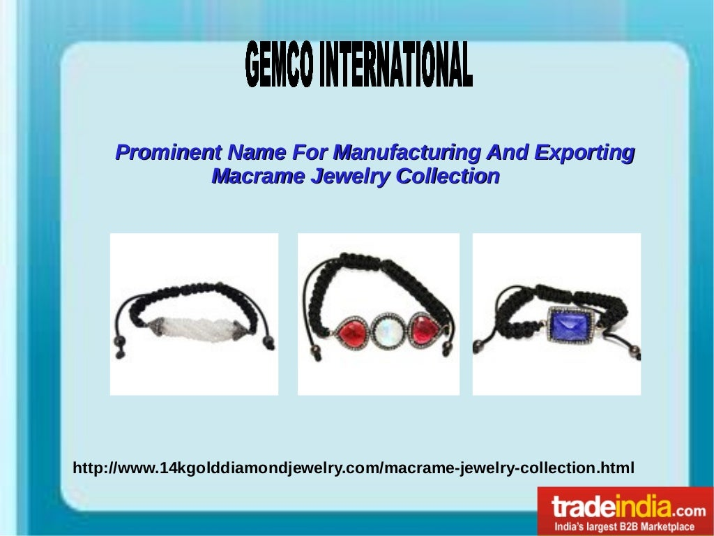 Macrame Jewelry Collection Exporter, Manufacturer, Jaipur