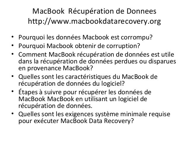 Mac récupération de données Slide 2