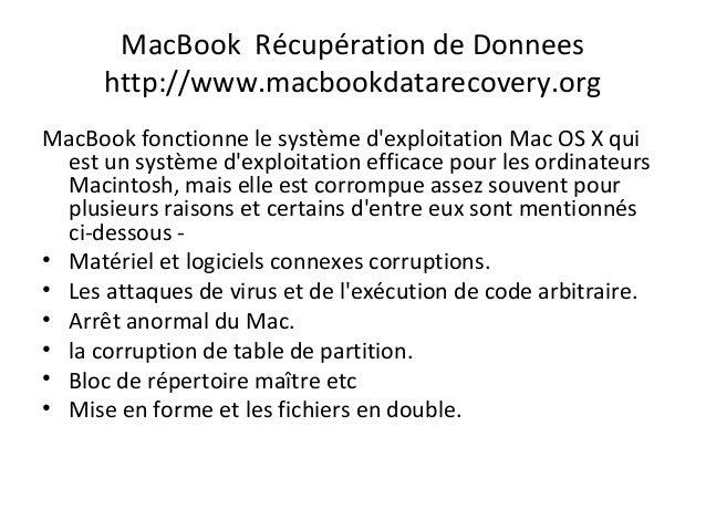 Mac récupération de données Slide 3