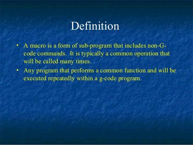 Macro Programming