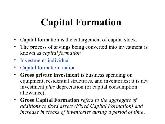 define investment capital formation