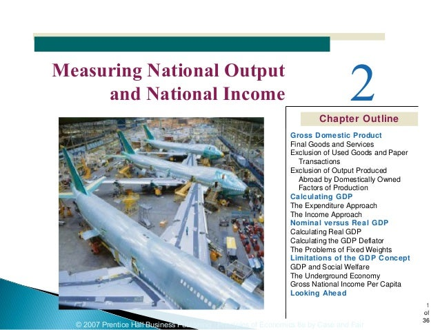 © 2007 Prentice Hall Business Publishing Principles of Economics 8e by Case and Fair 1 of 36 Chapter Outline 2Measuring Na...