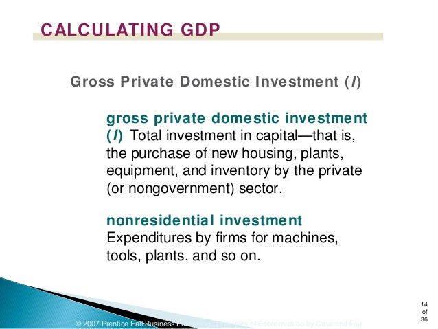 How do I calculate gross private domestic investment?