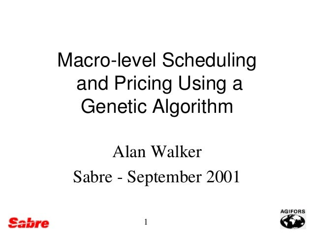 Airline scheduling and pricing using a genetic algorithm