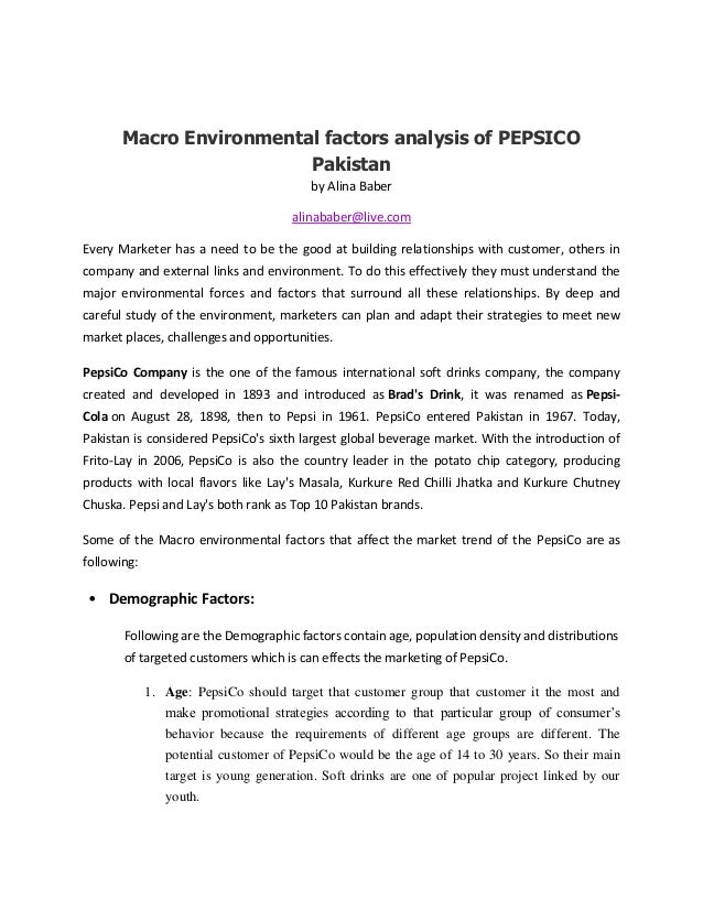pakistan environmental analysis Mcdonald's pestel/pestle analysis & case study on political, economic, social, technological, ecological & legal external factors in the remote environment.