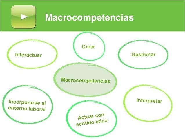 Macrocompetencias Crear