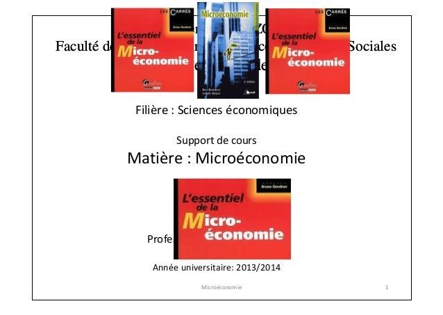 Université IBN ZOHR Faculté des Sciences Juridiques, Economiques et Sociales  Centre universitaire de Guelmim Filière : Sc...