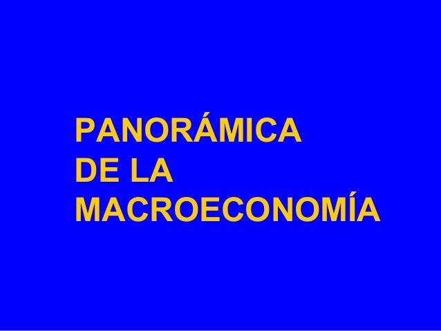 PANORÁMICA DE LA MACROECONOMÍA