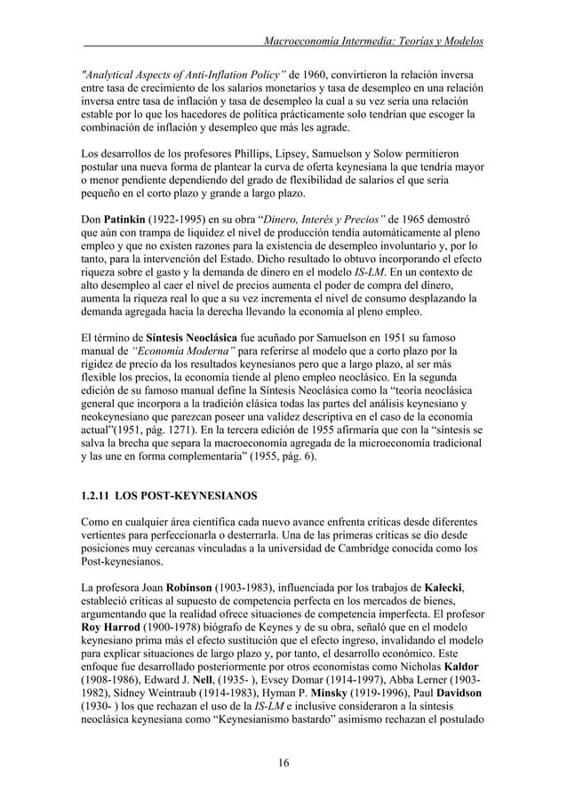 """. Macroeconomía Intermedia: Teorías y Modelos """"Analytical Aspects of Anti-Inflation Policy"""" de 1960, convirtieron la relac..."""