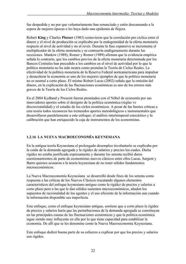 . Macroeconomía Intermedia: Teorías y Modelos fue despedida y no por que voluntariamente han renunciado y estén descansand...