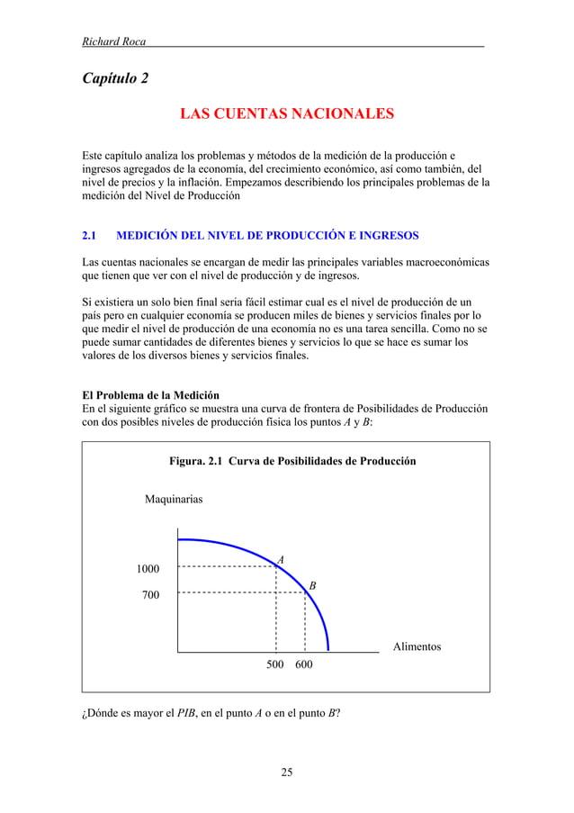 Richard Roca . Capítulo 2 LAS CUENTAS NACIONALES Este capítulo analiza los problemas y métodos de la medición de la produc...
