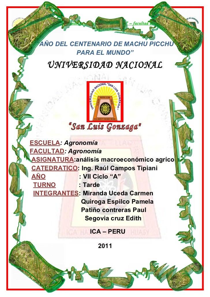 (Macroeconomia) la constitucion politica del peru