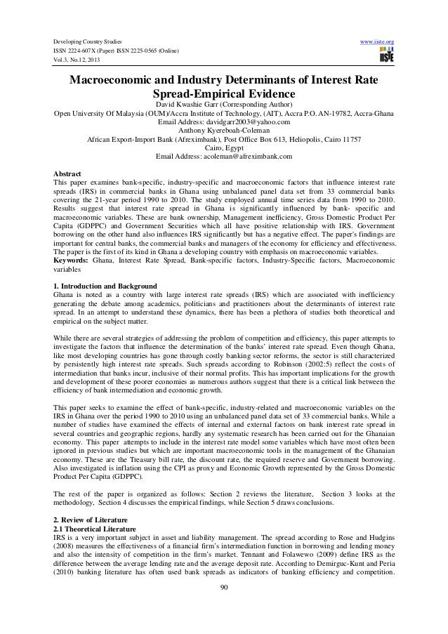 Developing Country Studies ISSN 2224-607X (Paper) ISSN 2225-0565 (Online) Vol.3, No.12, 2013  www.iiste.org  Macroeconomic...