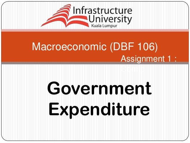 Macroeconomic (DBF 106) Assignment 1 : Comic  Government Expenditure