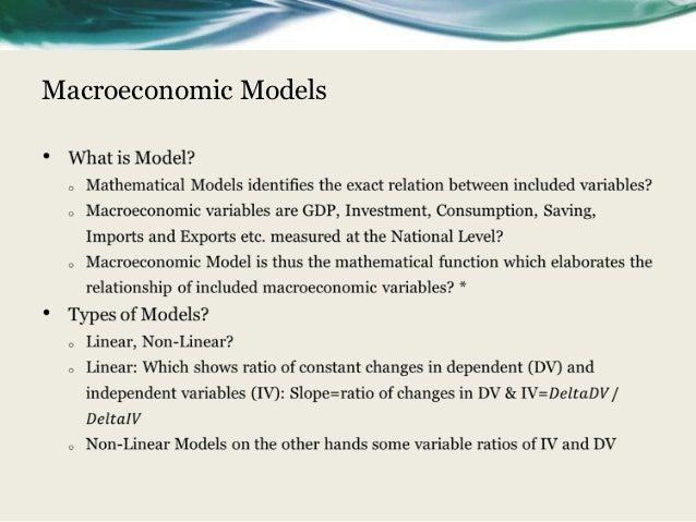 Macroeconomic modelling using Eviews