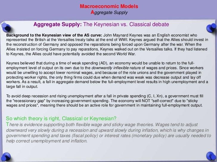 Macroeconomic Models                                              Aggregate Supply                Aggregate Supply: The Ke...