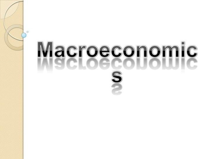Macroeconomics<br />
