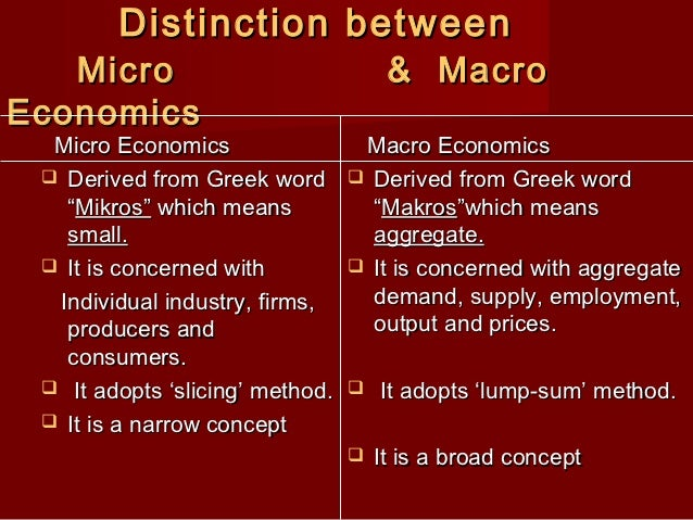 economics notes for macro eco Friends before you begin with part-b introduction to macro economics, it is  corporations to assist in the development and evaluation of economic policy and .