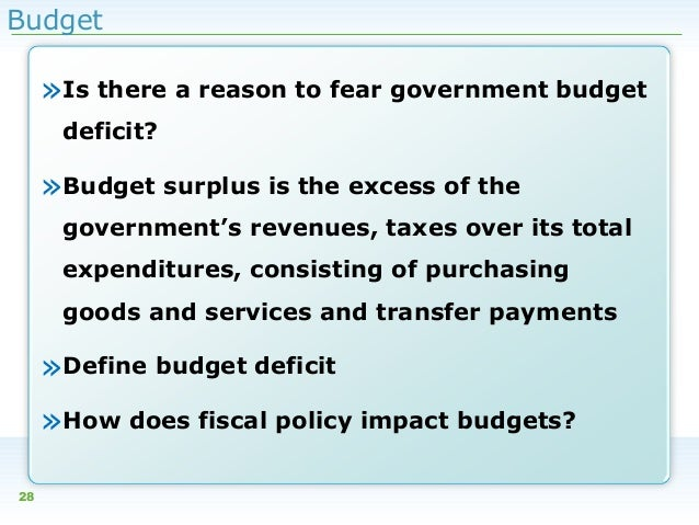 an analysis of the use of budget surplus in stopping the recession The disappearing budget surplus the chief causes of the decreasing budget surpluses have been the 2001 recession because many of its consumers will stop.