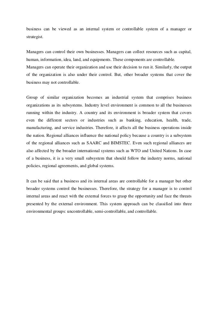 Impact of external environment to business in china essay