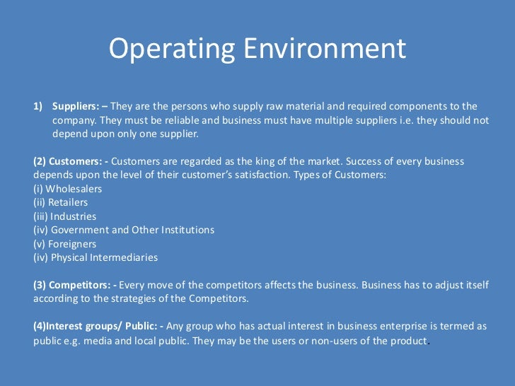 marketing in the operational context Market infrastructure development cannot be isolated from its operational context, which includes: overall market management and operating procedures.