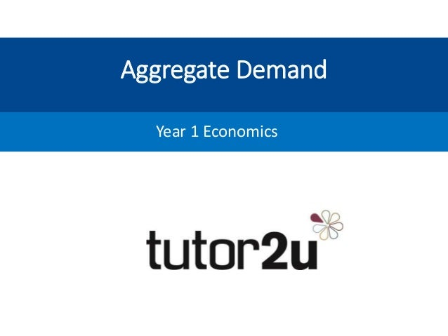 Aggregate Demand Year 1 Economics